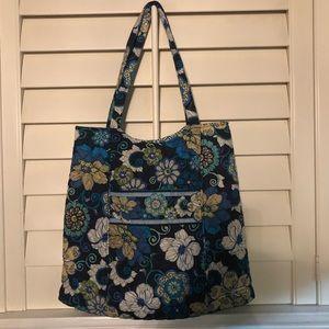 Vera Bradley Tote 15/14. Blue/greens floral print.